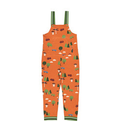 Kids Organic Cotton Forest Dungarees