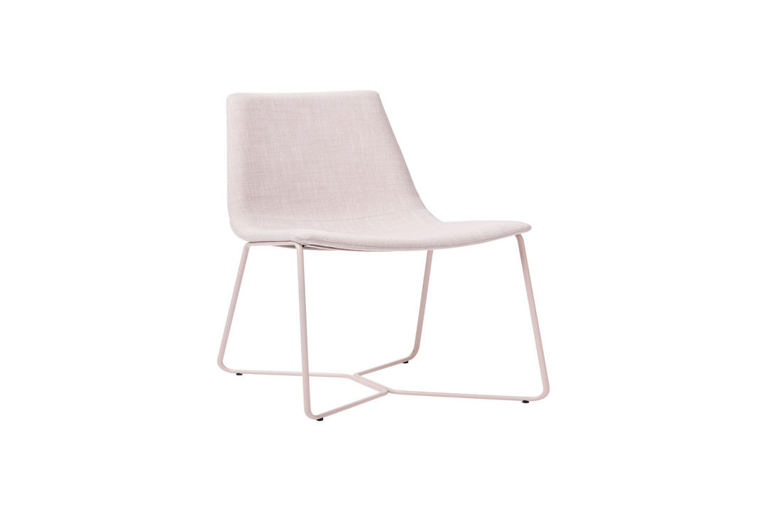 Modern Slope Dining Chair, Soft Pink