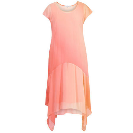 Ombre Chiffon Dress Orange