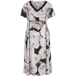 Contrast Trim Blush Rose Print Dress Blush
