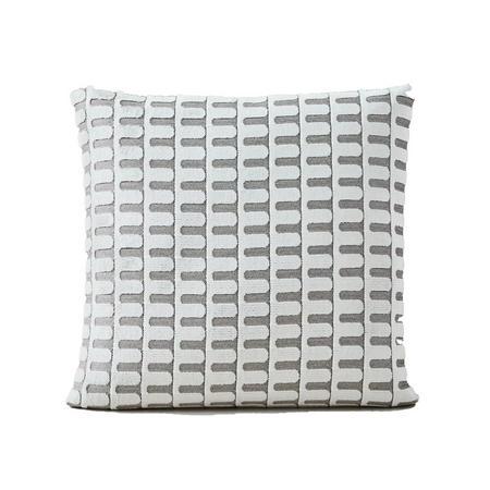 Cut Velvet Archways 51cm X 51cm Pillow Cover White