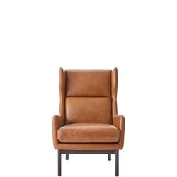 Bates Armchair Saddle Leather