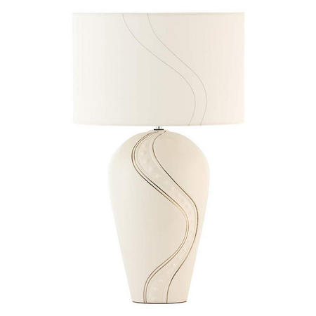 Living Silver Ripple Lamp and Shade