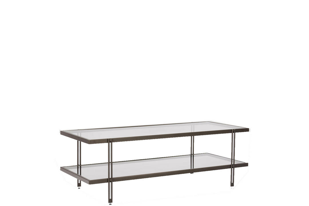 Fulton Coffee Table Glass And Antique Bronze