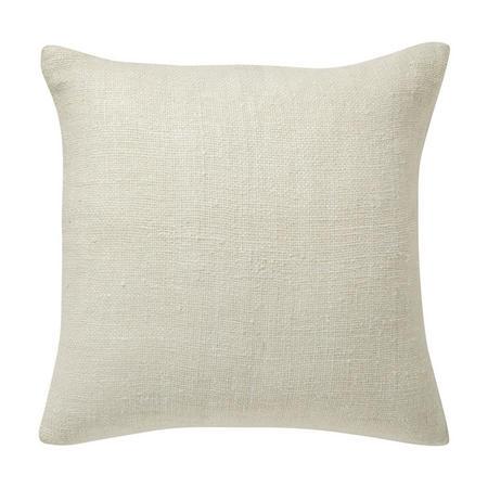 Silk Handloomed 50x50 Cushion Cover, Stone White