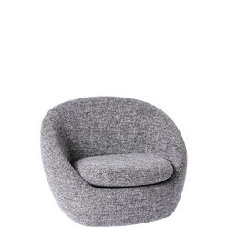 Cosy Swivel Chair Charcoal Chunky Melange