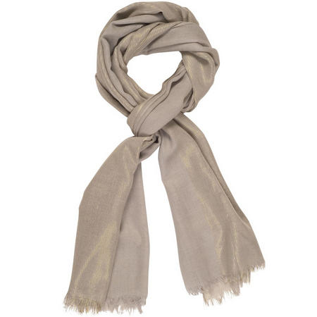 All-Over Metallic Printed Scarf Grey