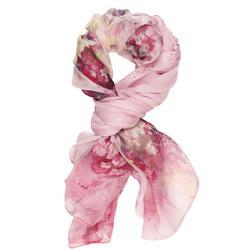Flower Printed Scarf Pink