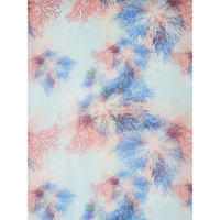 Multi Coloured Branch Printed Scarf Blue