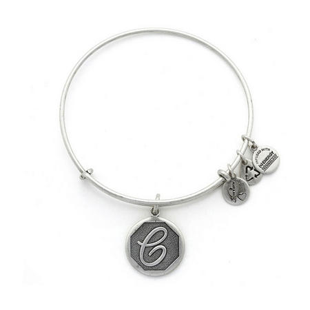 Initial - C Bangle Silver