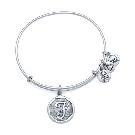 Initial - F Bangle Silver