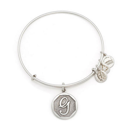 Initial - G Bangle Silver