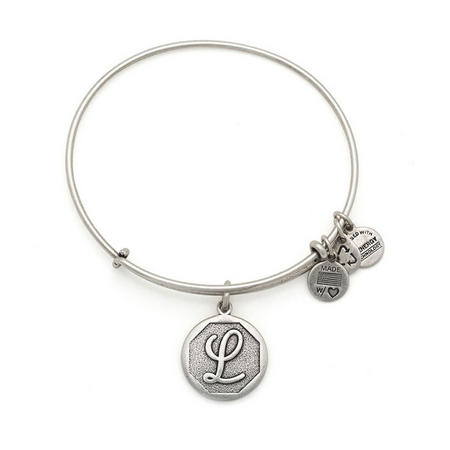 Initial - L Bangle Silver