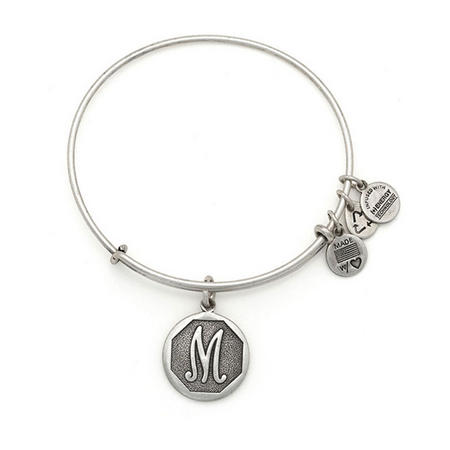 Initial - M Bangle Silver
