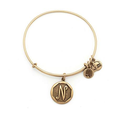 Initial - N Bangle Gold