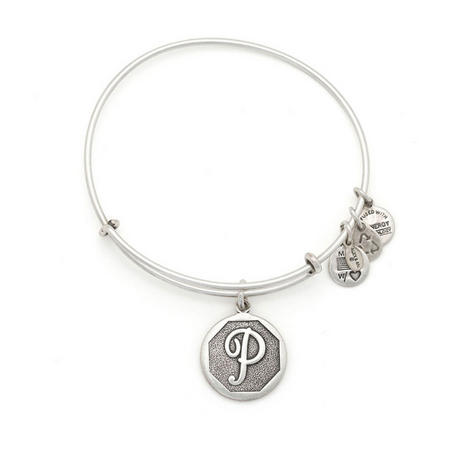 Initial - P Bangle Silver