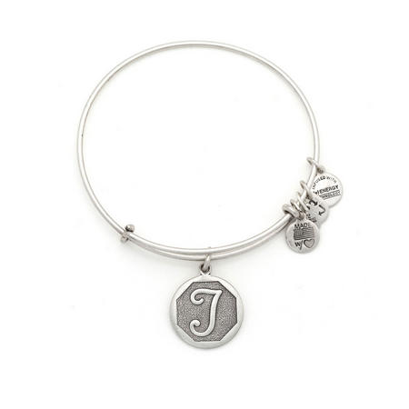 Initial - T Bangle Silver