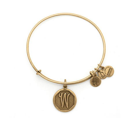 Initial - W Bangle Gold