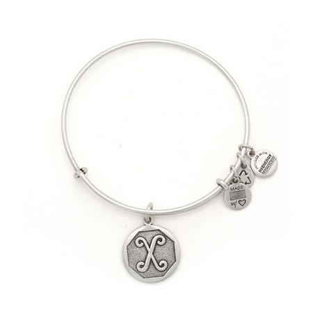 Initial - X Bangle Silver