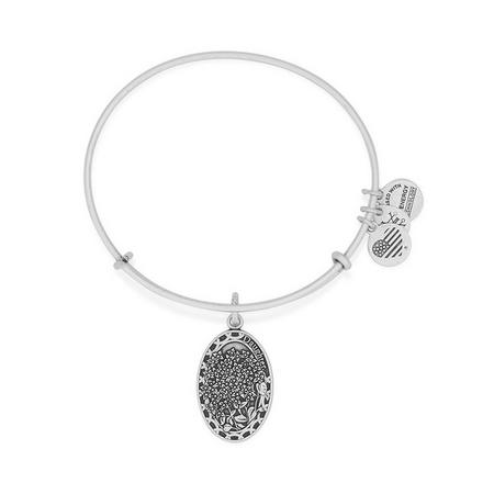 Daughter Charm Bangle Silver