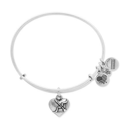 Cupid's Heart Bangle Rafaelian Silver