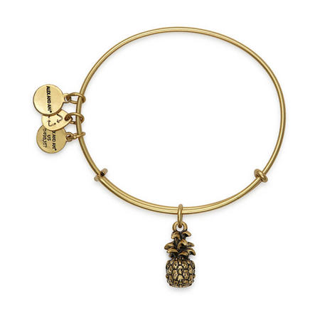 Pineapple Charm Bangle Rafaelian Gold