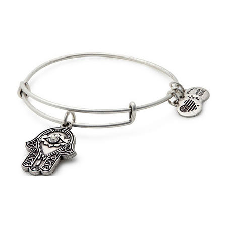 Hand of Fatima Charm Bangle Rafaelian Silver