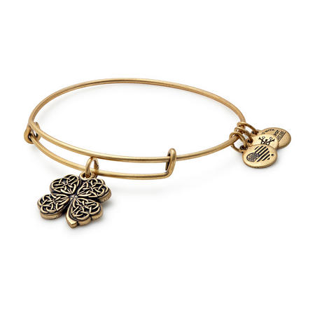 Four Leaf Clover Charm Bangle Rafaelian Gold
