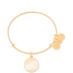 Everything Happens for a Reason Charm Bangle Gold