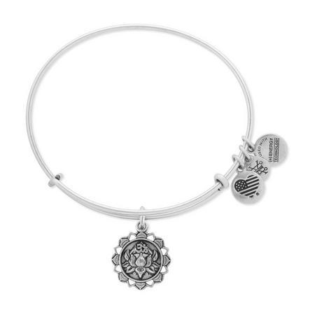 Lotus Peace Petals Charm Bangle Rafaelian Silver
