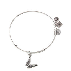 Butterfly Charm Bangle Silver