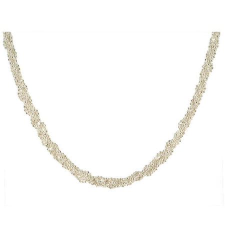 Twisted Bead Collar Silver