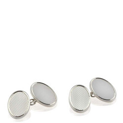 Oval Cufflinks Silver