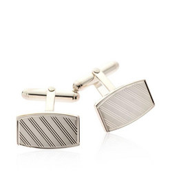 Engraved Cufflinks Silver