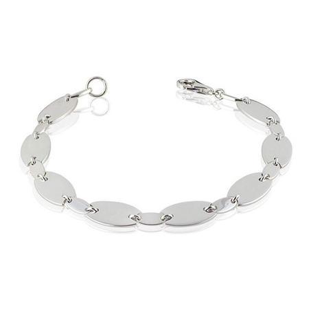 Oval Link Bracelet Silver