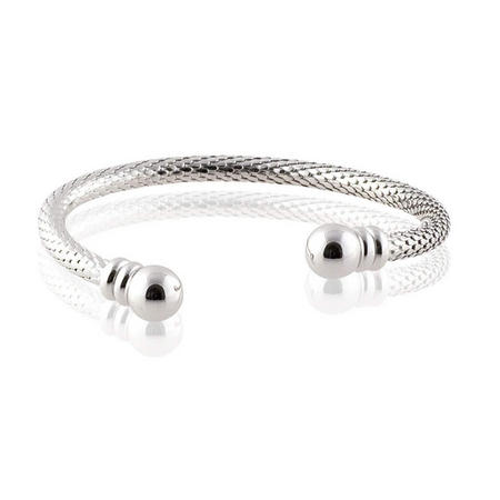 Torc Style Silver Bangle