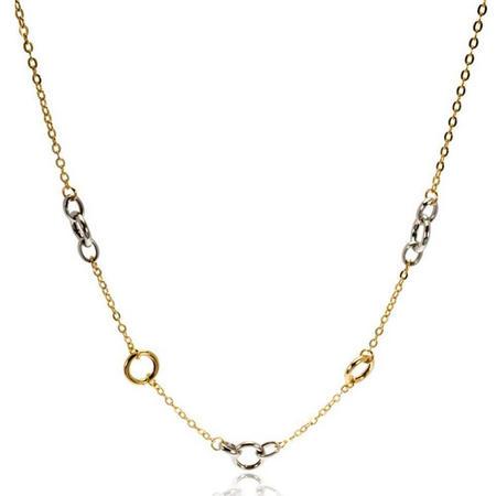 9Ct Gold 2-Tone Circles Neckchain