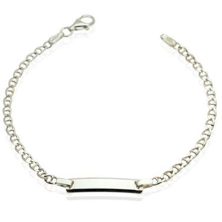 Girls Silver Chain Bracelet