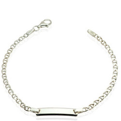 Girls Silver Chain Bracelet