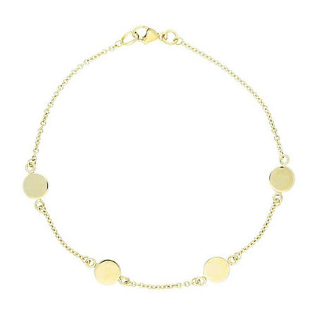 9Ct Gold Disc Bracelet