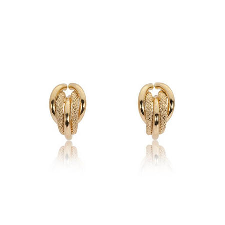 9ct Gold Textured Earrings