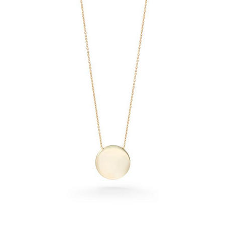 9ct Gold Disc Pendant With Chain