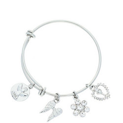 Communion Bangle With Charms