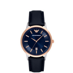 Gents Stainless Steel Navy Strap And Dial Blue