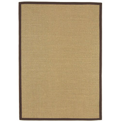 Sisal Linen Rug Chocolate