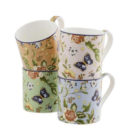 Cottage Garden Windsor Mug Set of 4