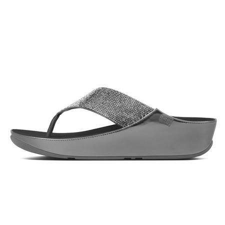 18a8f4b6f FitFlop Crystal Sandal Pewter
