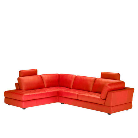 B617 Massimo Leather Corner Group With Two Headrests (LAF Terminal) Red