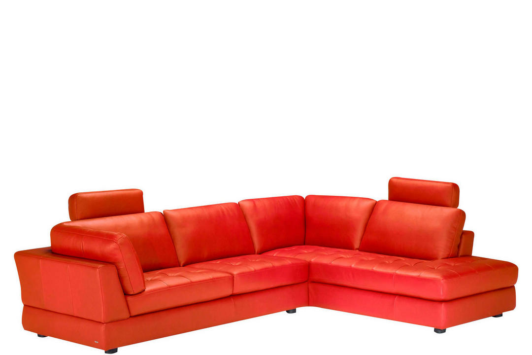 B617 Massimo Leather Corner Group With Two Headrests (RAF Terminal) Red