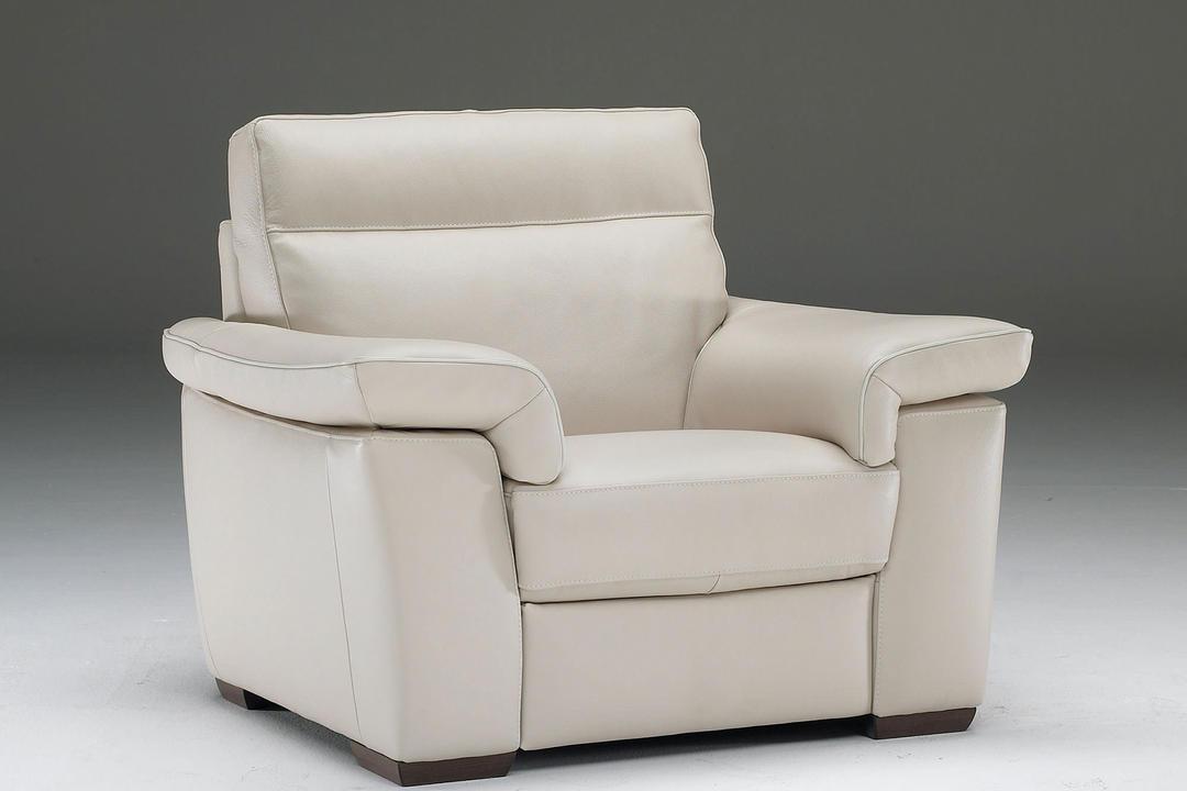 B757 Brivido Leather Armchair Beige